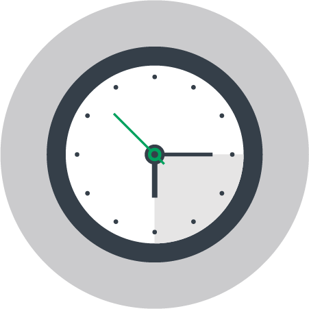 Integration Rapid Time to Market Clock Icon